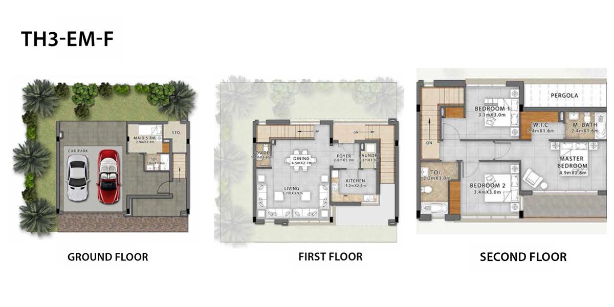 3 Bedroom TH3-EM-F