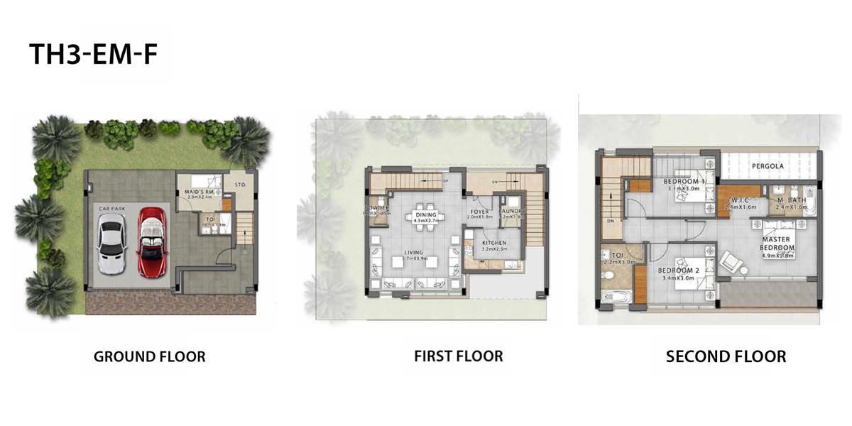 3 Bedroom TH3-EE-F