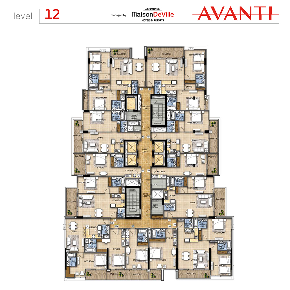 Level 12 floor layout plan