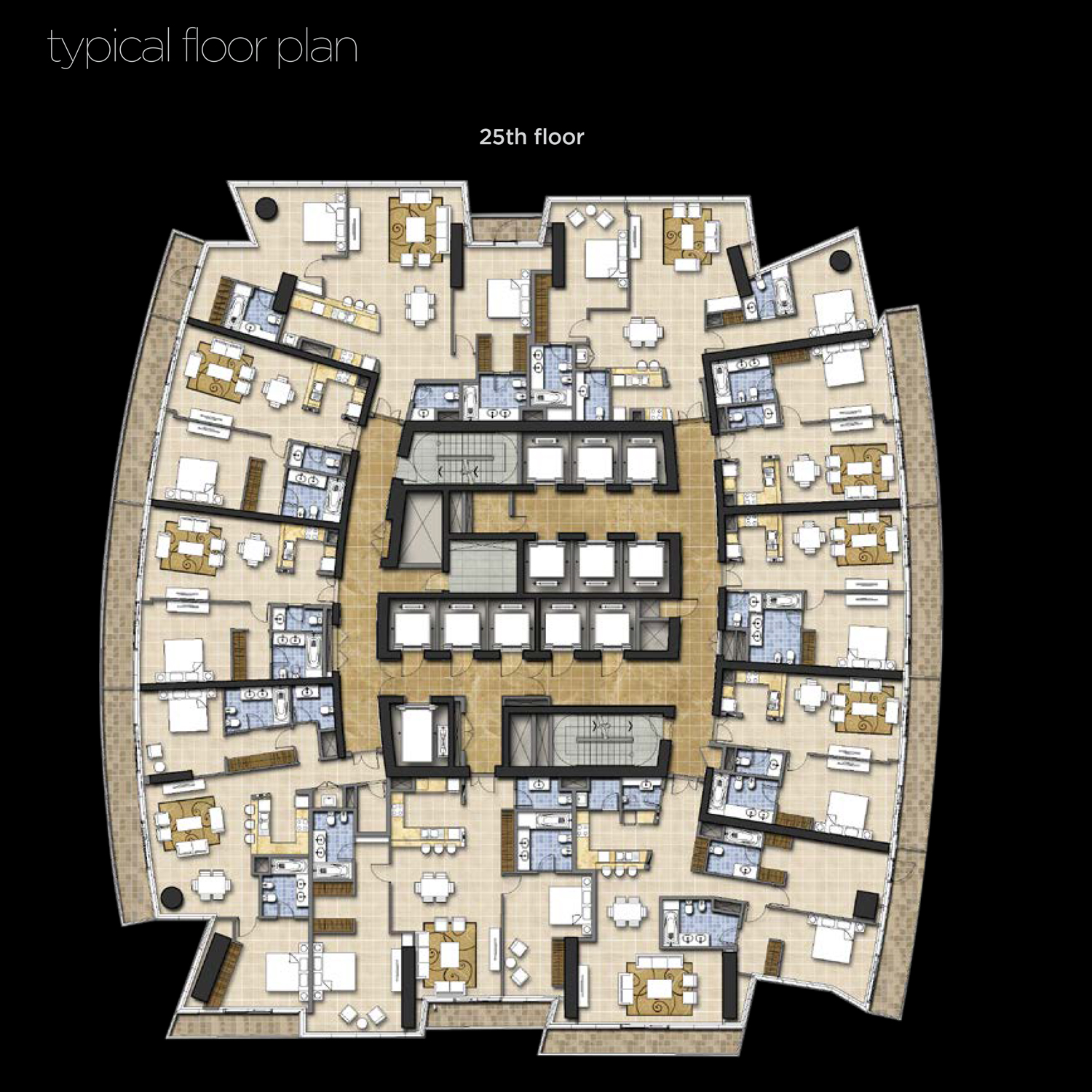 25th-Floor--Typical-Floor-Plan