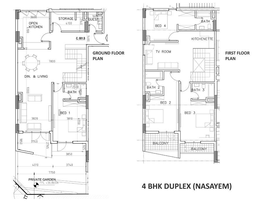 4 Bedroom Duplex, Size 2944.03 sq ft