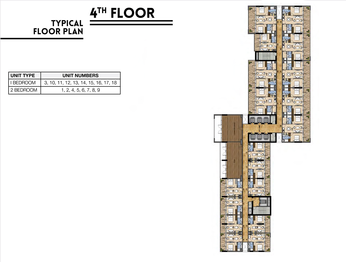 Floors   4 Floor Typical Layout Plan