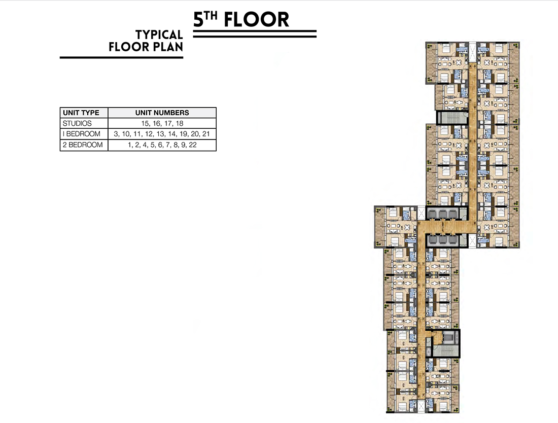 Floors   5th Floor Typical Layout Plan