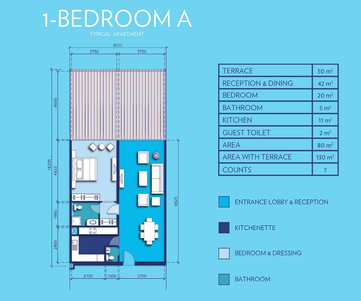 1 Bedroom Type - A