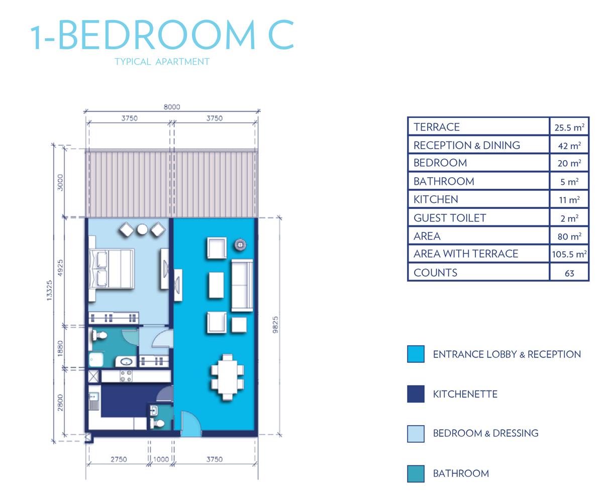 1 Bedroom Type - C
