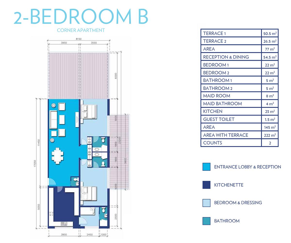 2 Bedroom Type - B