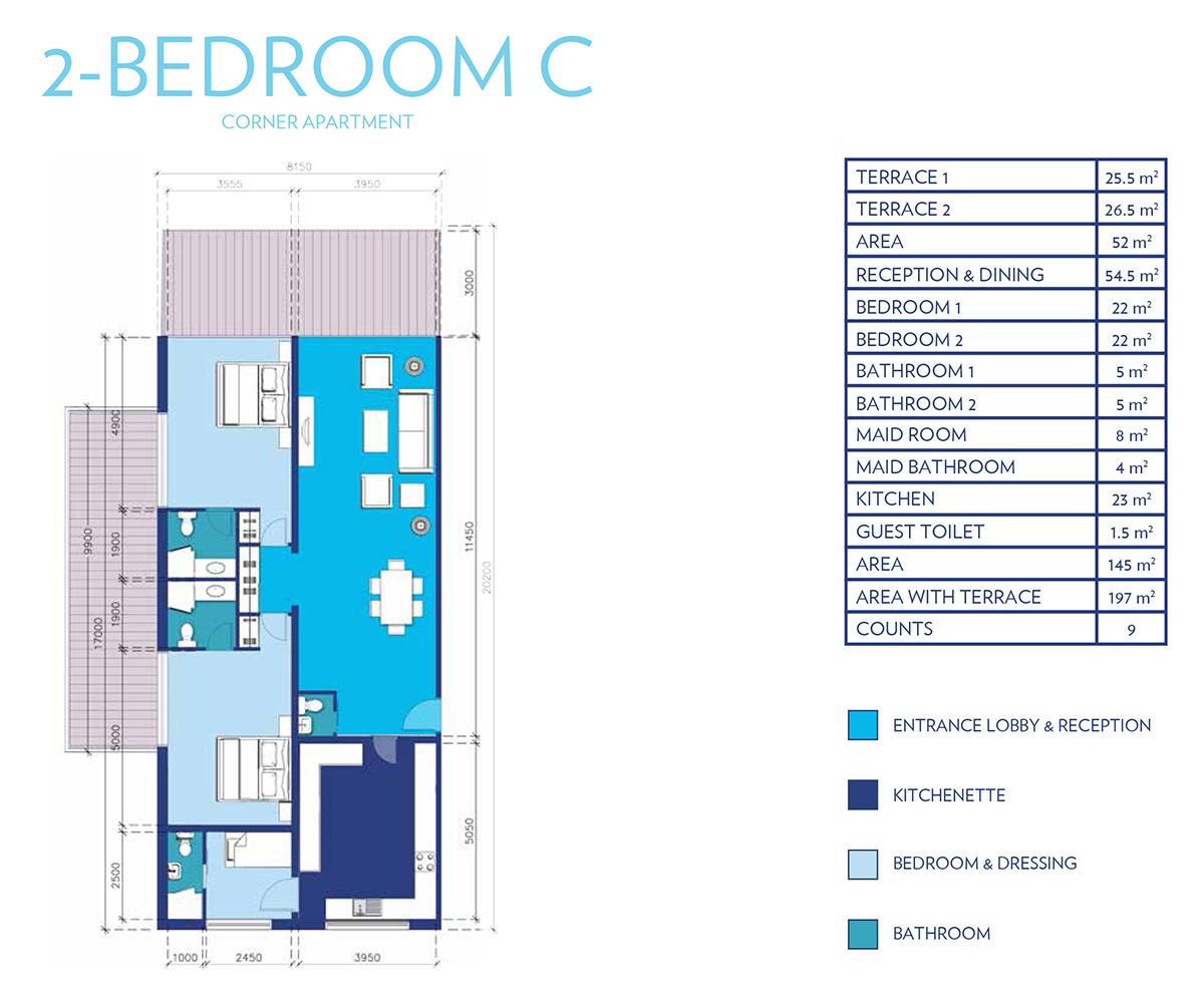 2 Bedroom Type - C