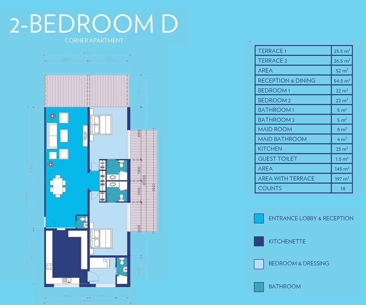 2 Bedroom Type - D