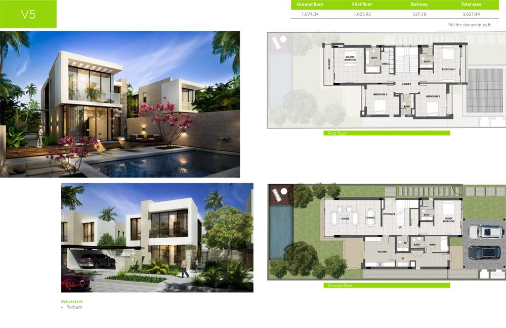 V5 Type    Villa, Size 3627.44 sq ft