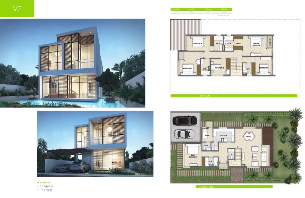 V2 Type    Villa, Size 3162.80 sq ft