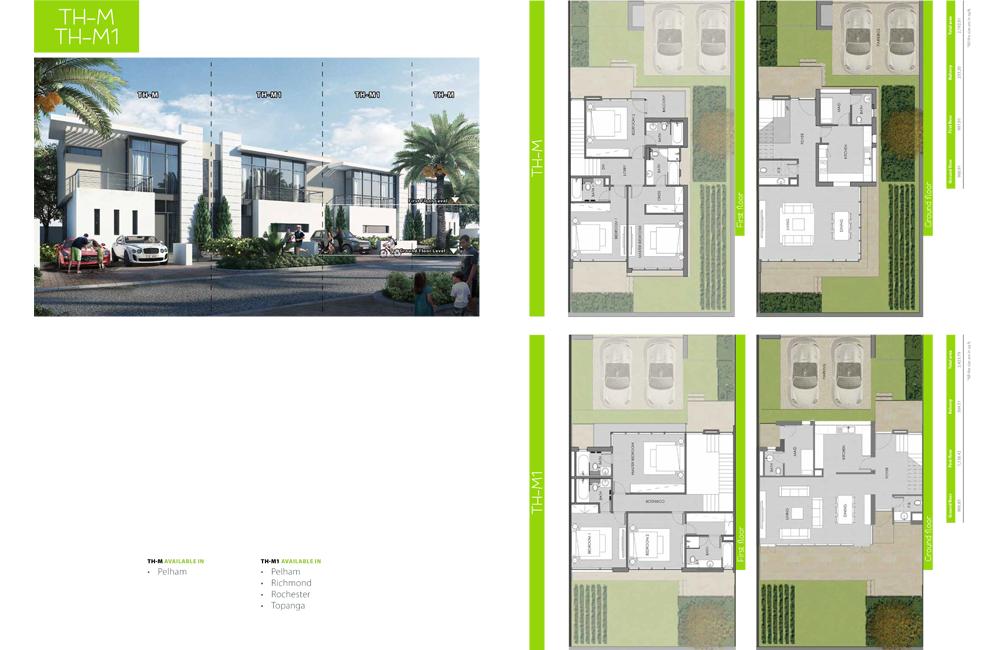 TH-M1 Type    Villa, Size 2423.79 sq ft