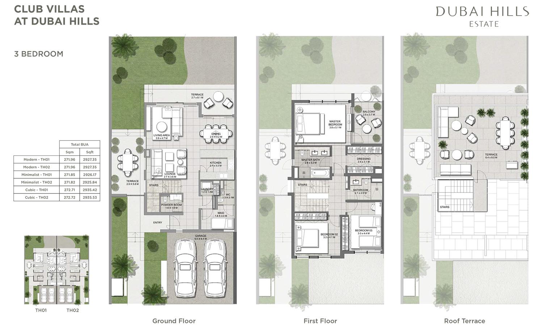 Club Villas by Emaar Properties at Dubai Hills Estate Floor Plan – Dubai House Floor Plans