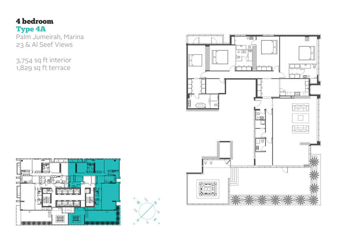 4 Bedroom Type 4A Size 3754  sq. ft.