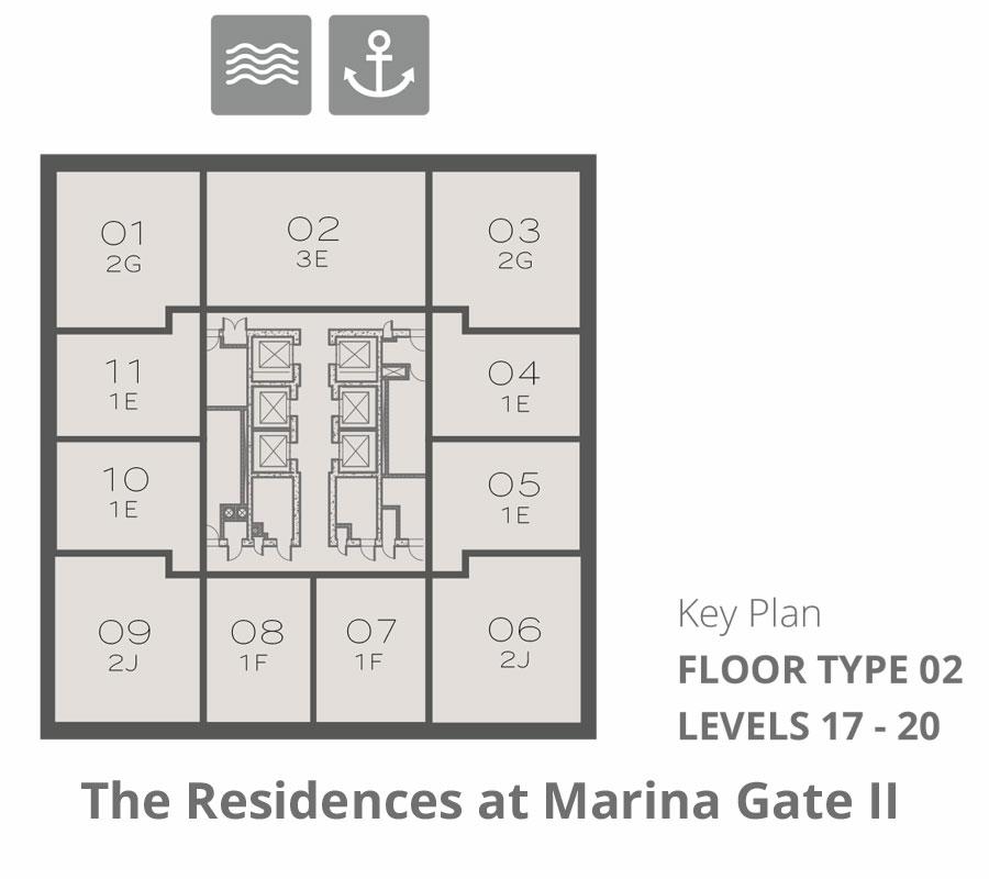 Tower 2    Floor-Type-2-Levels-17-20