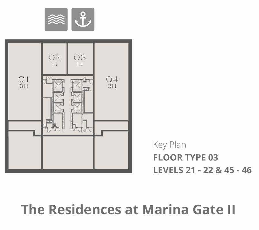Tower 2    Floor-Type-3-Levels-21-22-&-45-46