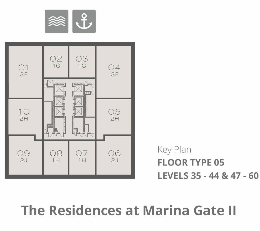 Tower 2    Floor-Type-5-Levels-44-&-47-60