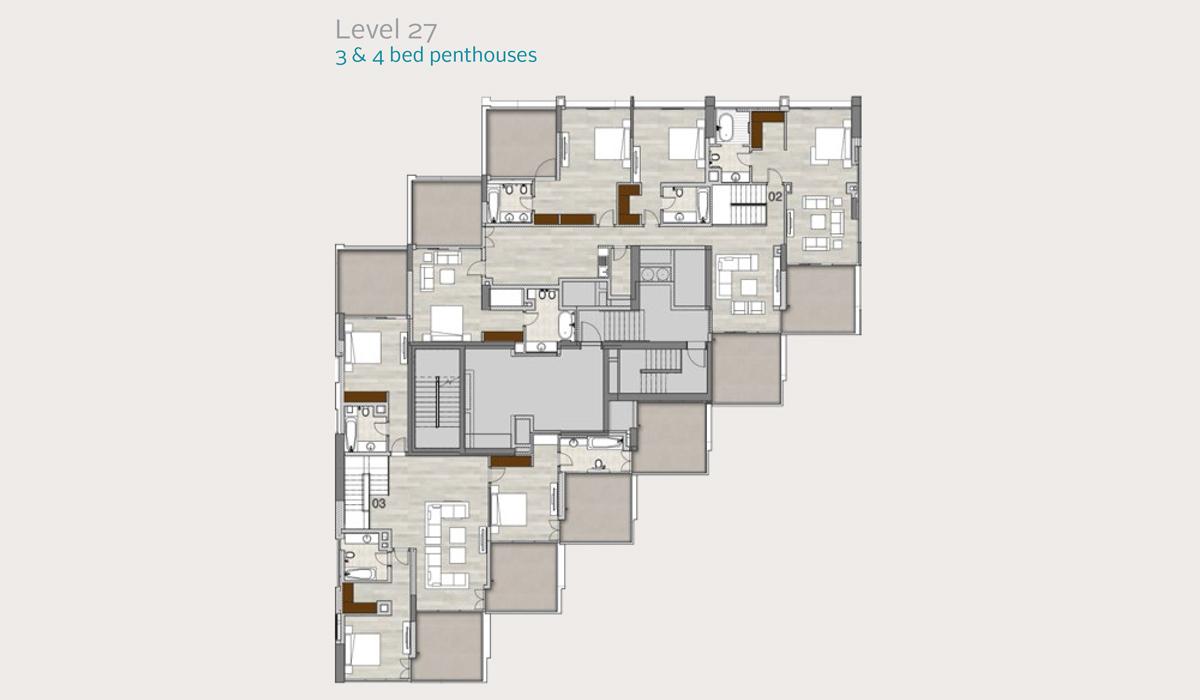 Penthouses Level 27, 3 & 4 Bedroom