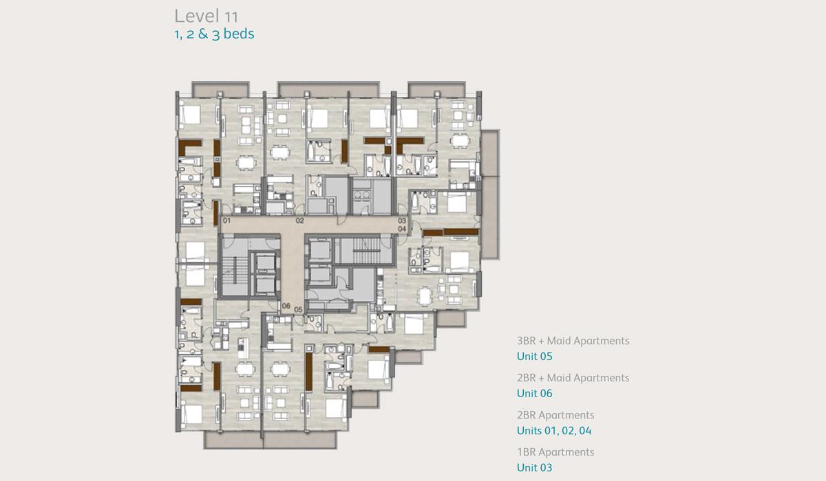 Apartments Level 11, 1, 2 & 3 Bedroom