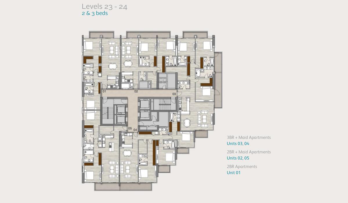 Apartments Level 23, 2 & 3 Bedroom
