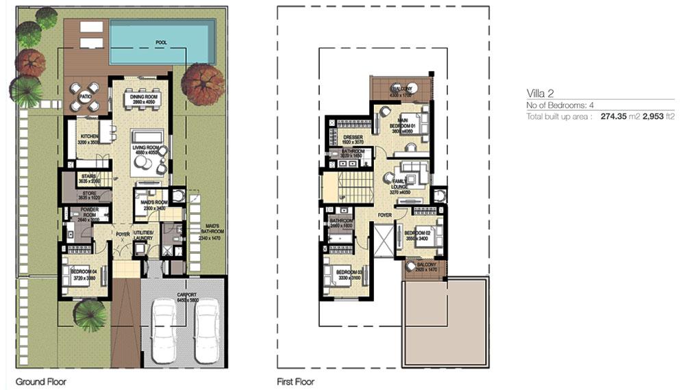 4 Bedroom 274.35-M2-2,953 sq. ft.2