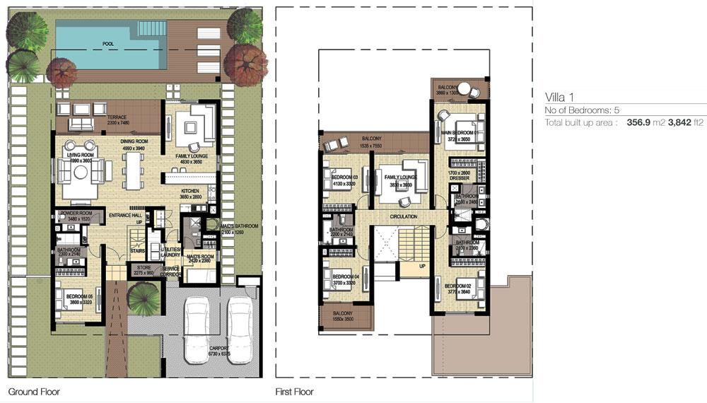 5 Bedroom 356.9-M2-3,842 sq. ft.2