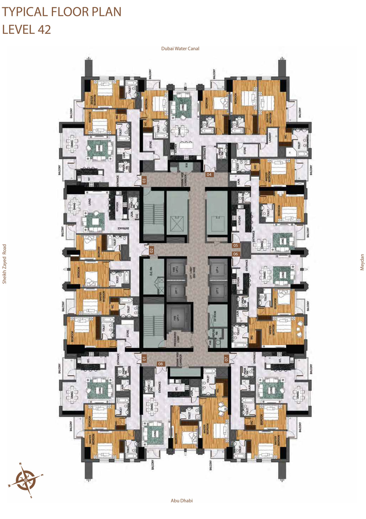 Level 42     Typical Floor Layout Plan