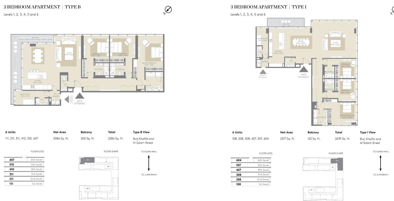 City Walk Apartments Building 5 By Meraas Floor Plan