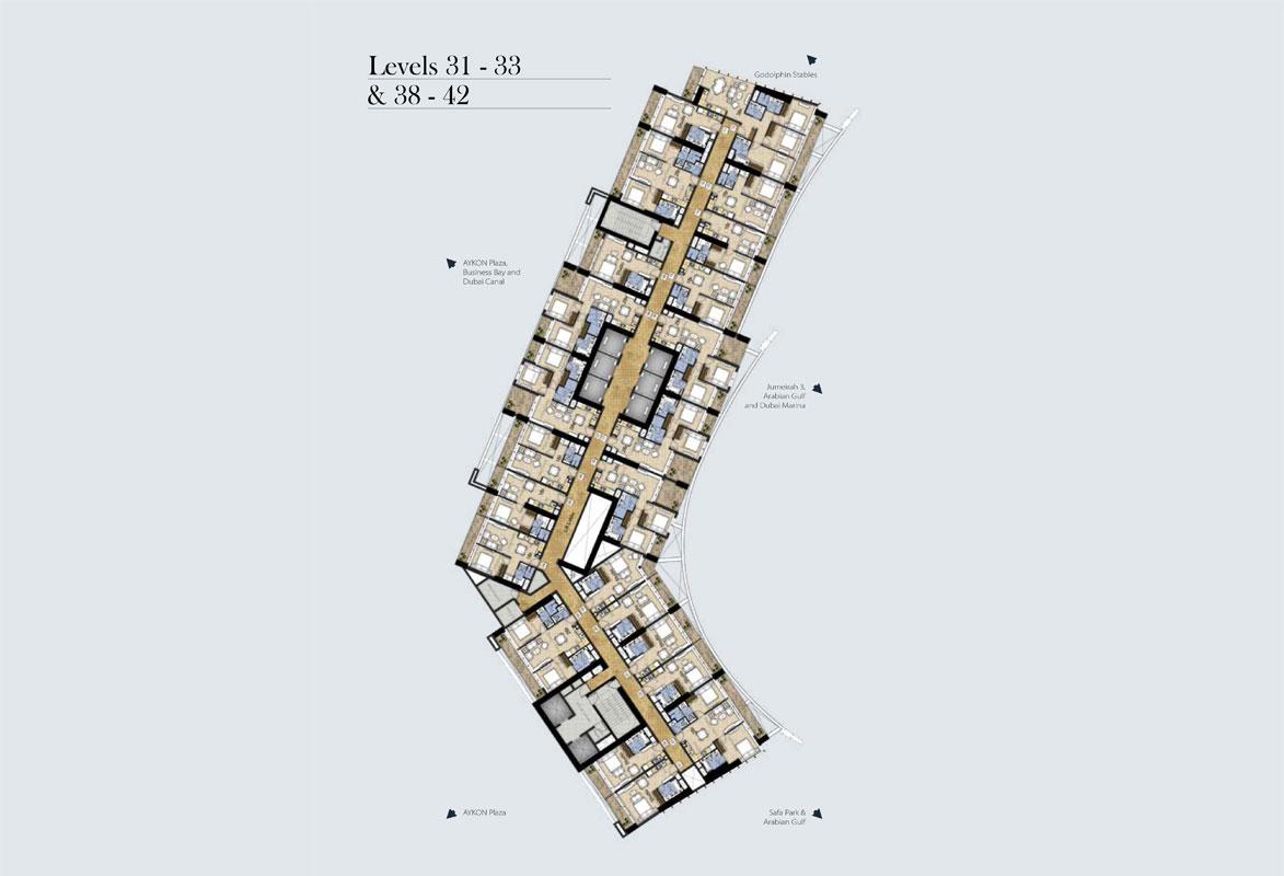 Typical-Floor-Plan-Level-31-33-&-38-42