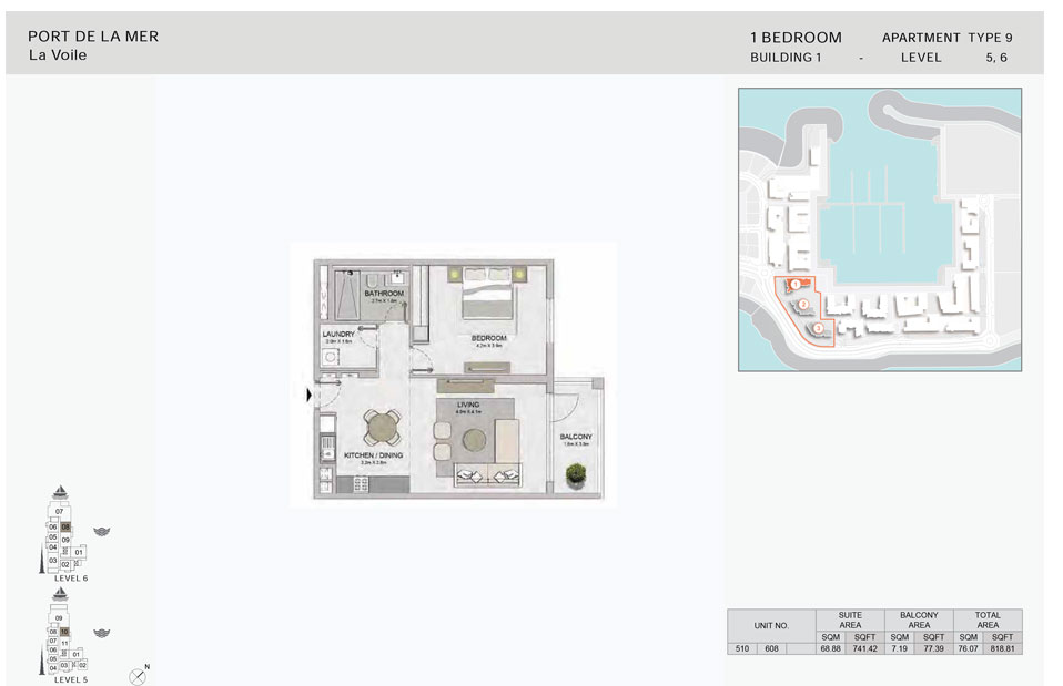1-Bedroom,-Type-9,-Level--5-to-6,-Size-818.81  sq. ft.