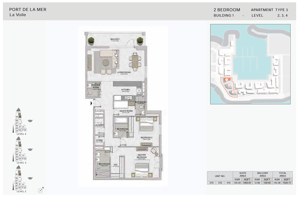 2-Bedroom -Type-3,-Level--2-to-4,-Size-1543.11  sq. ft.