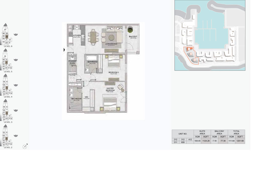 2-Bedroom,-Type-5,-Level--2-to-6,-Size-1201.68  sq. ft.
