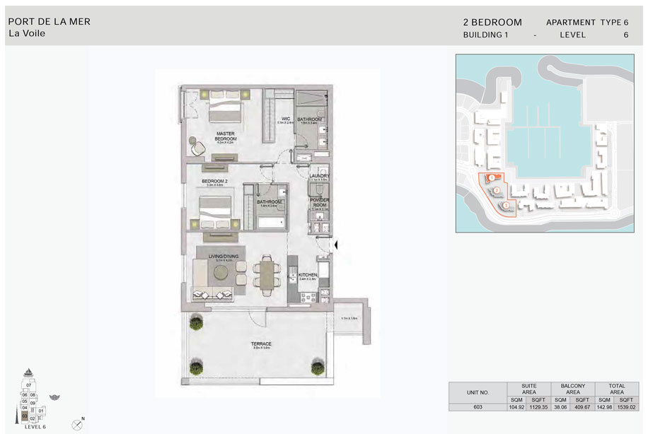 2-Bedroom,-Type-6,-Level-6,-Size-1539.02  sq. ft.