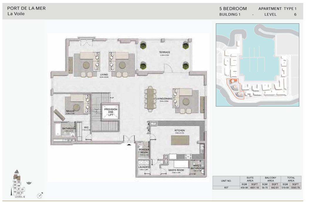 5-Bedroom, Type-1,-Level-6-Size-5593.79    sq. ft.