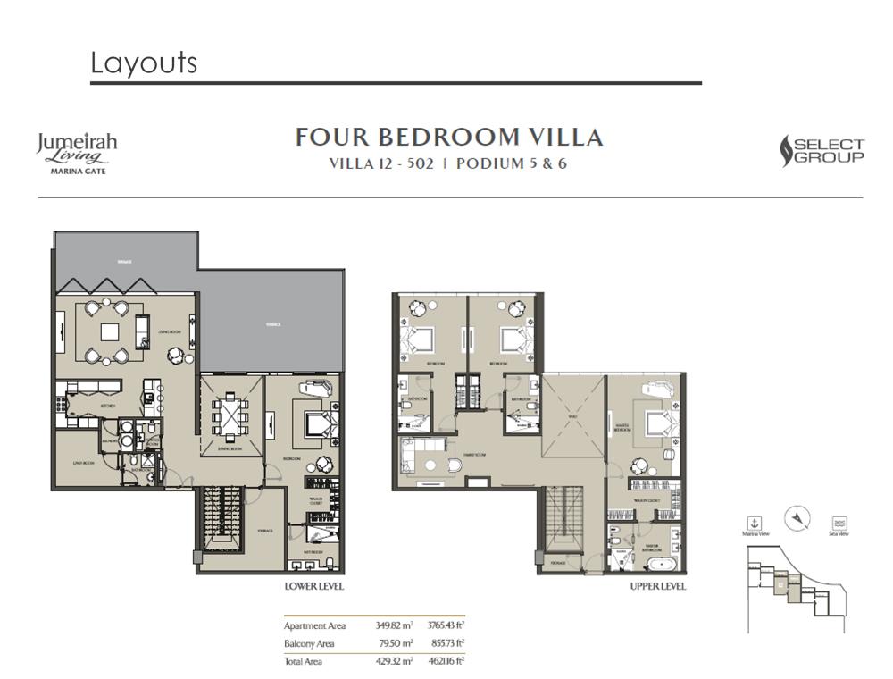 4 Bedroom Villa Type 12, Size 4621    sq. ft.