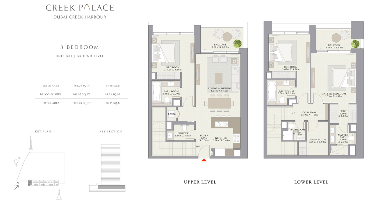 3 Bedroom Apartment, Size 1926    sq. ft.