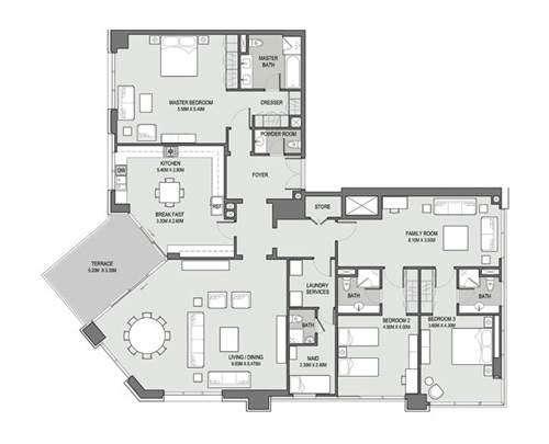 3 Bedroom Penthouse- Type - 04