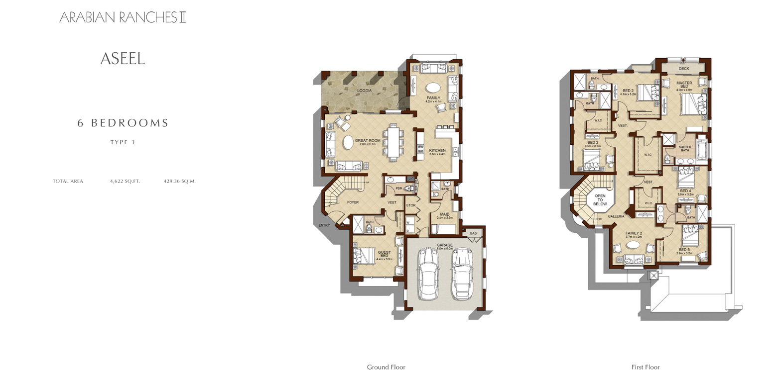 6 Bedroom - Type 3, Size 4622    sq. ft.