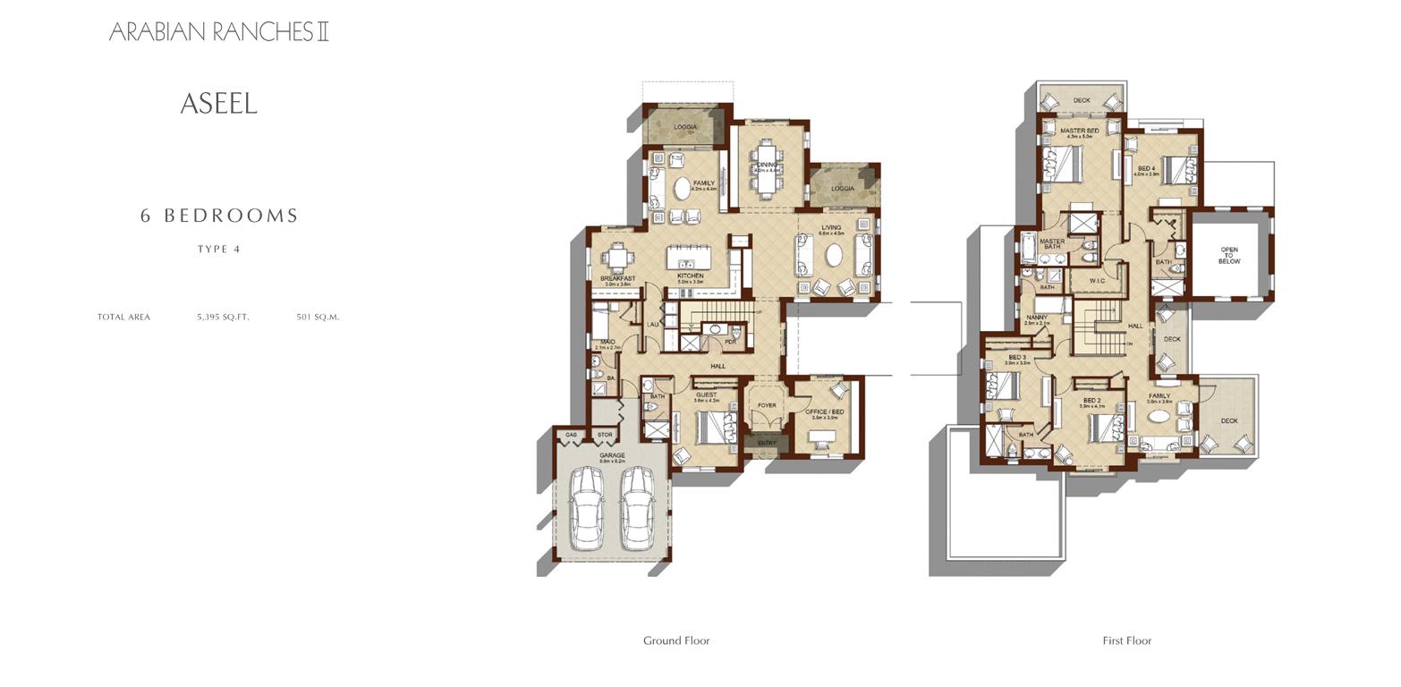 6 Bedroom - Type 4, Size 5395    sq. ft.