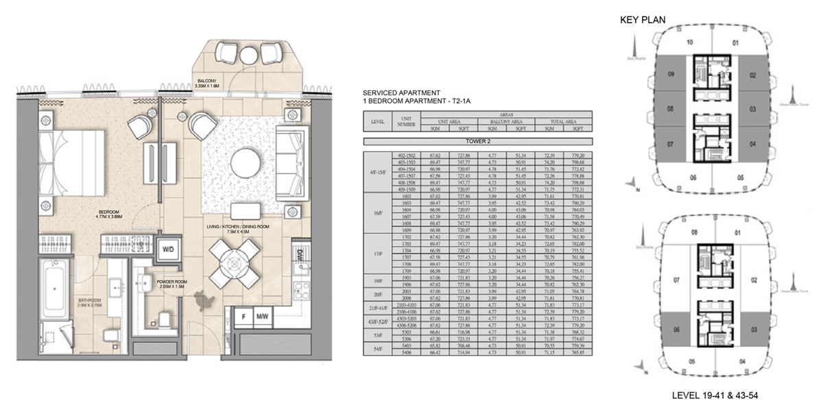 1 Bedroom Serviced Apartment Type 2-1A