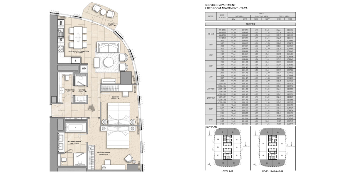 1 Bedroom Serviced Apartment Type 2-2A