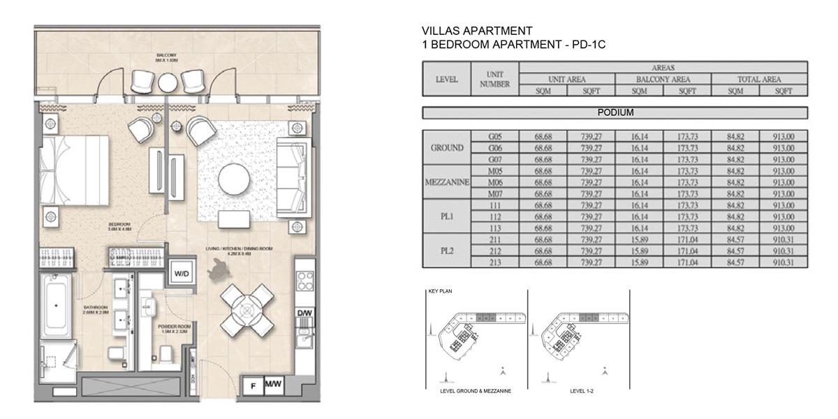 1 Bedroom Villa Apartment PD-1C