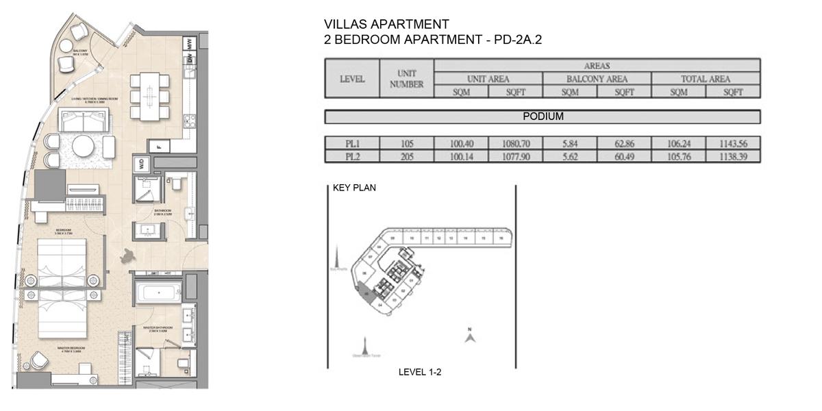 2 Bedroom Villa Apartment PD-2A-2