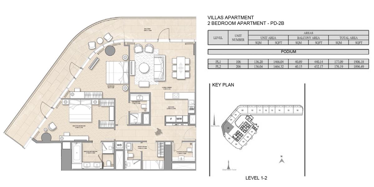 2 Bedroom Villa Apartment PD-2B