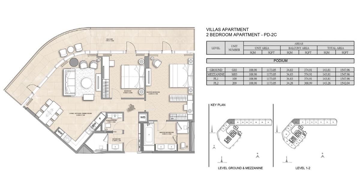 2 Bedroom Villa Apartment PD-2C