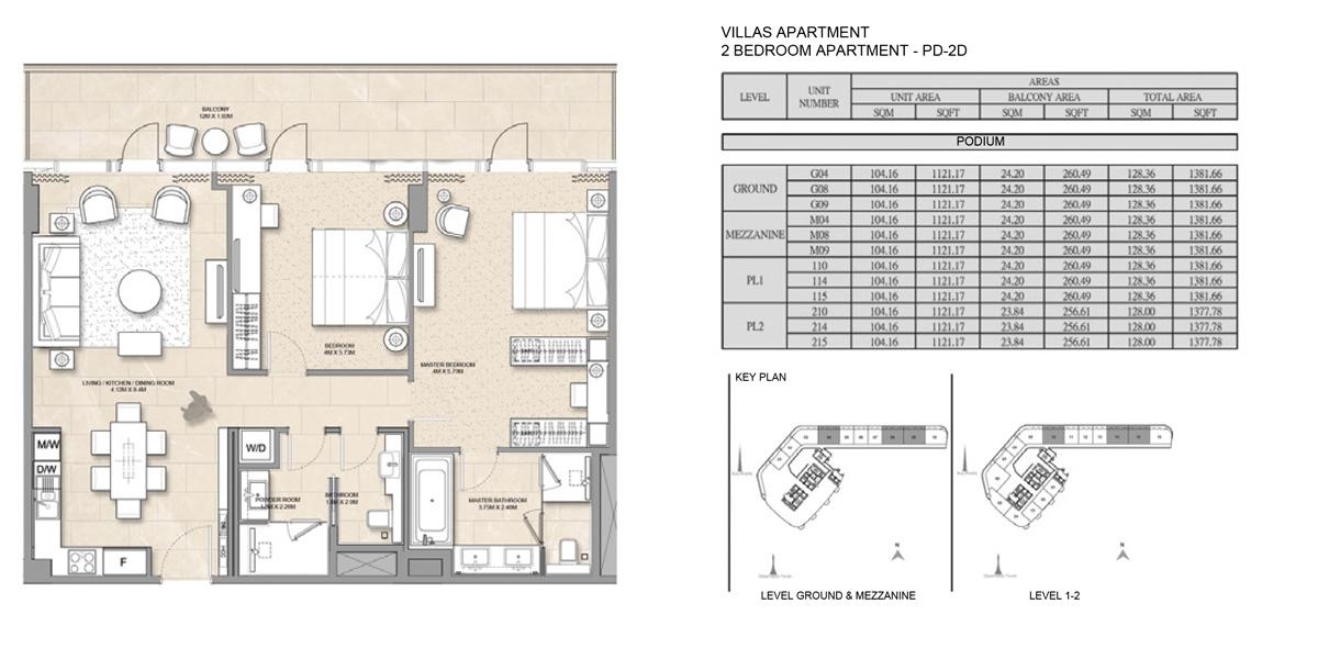 2 Bedroom Villa Apartment PD-2D