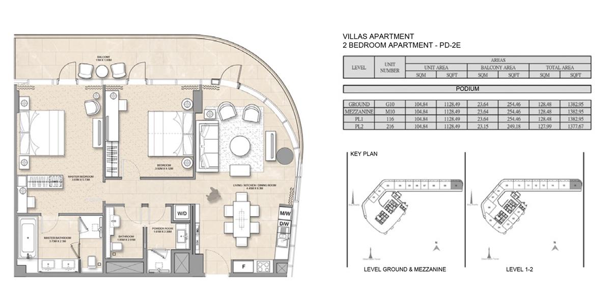 2 Bedroom Villa Apartment PD-2E
