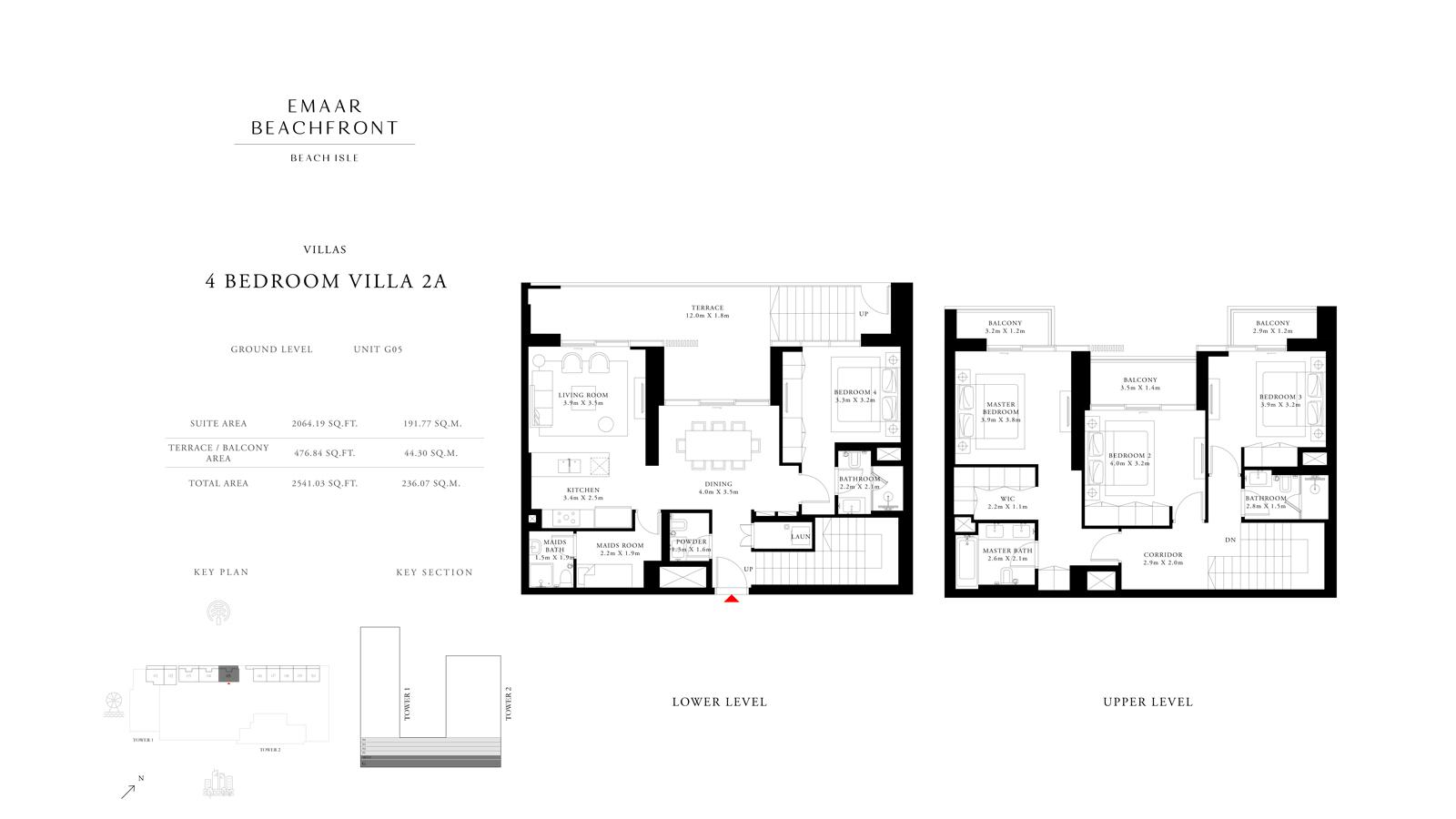 4 Bedroom Villas 2A, Size 2541    sq. ft.