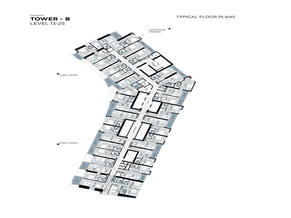 Typical Floor plan,Tower-B,Level-13-25