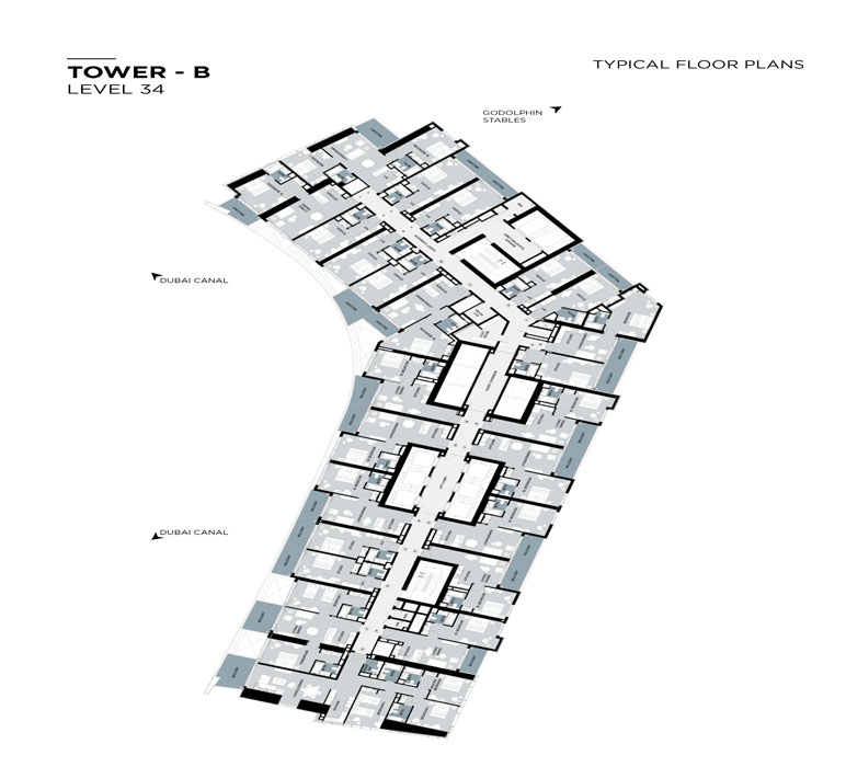Typical Floor plan,Tower-B,Level-34
