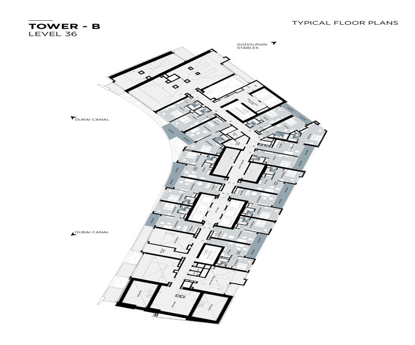 Typical Floor plan,Tower-B,Level-36